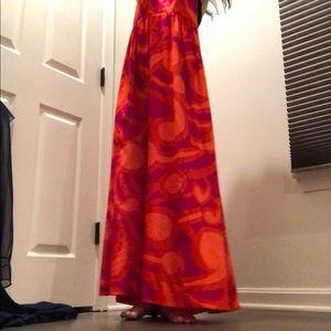 Vintage Dresses - Groovy Vintage Hawaiian Maxi Dress